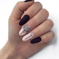 : Best Stunning Almond Matte Nails Design for Prom ? Page 48 ?Hope you like this collection Stunning almond matte nails design! Dark Nails, Matte Nails, Red Nails, Hair And Nails, Acrylic Nails, Acrylic Nail Designs, Nail Art Designs, Nails Design, American Nails