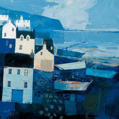 George Birrell - East Coast Blues - 50cm x 50cm Mixed Media - £2450