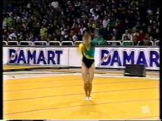 """Olesya Dudnik FX [1989 Gala] - """"El futuro de la gimnasia"""""""