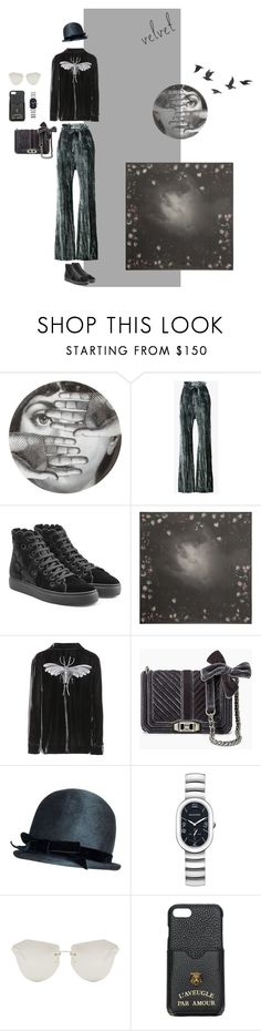"""""""Stormy Night"""" by ladyarchitect ❤ liked on Polyvore featuring Fornasetti, Ann Demeulemeester, Simone Rocha, Alexander McQueen, F.R.S For Restless Sleepers, Rebecca Minkoff, Philip Stein, Karen Walker, Gucci and Jayson Home"""