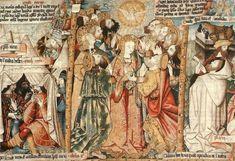 La Pentecôte : tapisserie de l'abbatiale Saint-Robert (église paroissiale de La Chaise-Dieu)