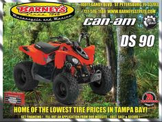 New 2017 Can-Am DS 90 ATVs For Sale in Florida. DS 90THERE IS NO NEED TO WORRY ABOUT SHIFTING GEARS.We take great pride in making sure young riders have the best vehicles to practice their off-road skills. Complete with neutral, reverse lights and a built-in throttle limiter, young riders get an authentic riding experience and parents have control.Call Norm at 727-576-1148 for all the details.Ask About Barney's Platinum Maintenance ProgramGet VIP Preferred Service and Enjoy the Savings Too…