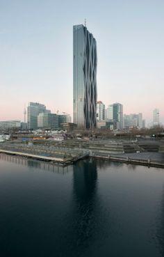 Toren met geplooide gevel voor Wenen - architectenweb.nl