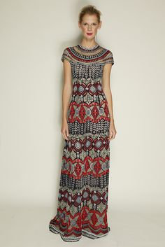 Naeem Khan Resort 2016  Looks like everyone is getting on that african print bandwagon these days