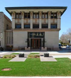 City National Bank and Hotel. Frank Lloyd Wright. 1909. Mason City, Iowa. Restored in 2011 as a conference center