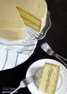 Southern Caramel Cake from agiltnutmeg.com Frosting tastes like a Werther's Original candy!
