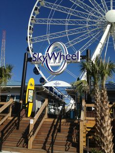SkyWheel is located on the oceanfront beside Jimmy Buffet's Landshark Restaurant.
