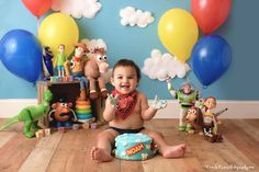 Best baby photo shoot themes and ideas 2nd Birthday Photos, 2nd Birthday Party Themes, Baby Boy First Birthday, Toy Story Birthday, 1st Boy Birthday, Birthday Ideas, 2 Year Old Birthday, Mickey Birthday, Toy Story Baby