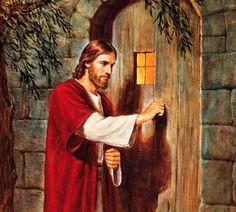 Shop Jesus knocks On The Door Poster created by stargiftshop. Book Of Mormon Stories, Door Picture, Religion Catolica, Knock On The Door, Jesus Pictures, Jesus Saves, Humor, Knock Knock, Jesus Christ