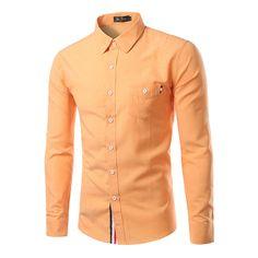 """Cheap Mens Casual Camisas Llenas de Tres Colores Camisas Botones 5 Tamaño de Un Solo Pecho Camisas de Buena Calidad, Compro Calidad Camisas casuales directamente de los surtidores de China: (1 pulgadas = 2.54 cm, 1 cm = 0.3937 pulgadas)tamañohombropecholongitudmangaM asiático (EE.UU. XS)42cm/16.8 """"94 cm/"""