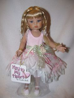"Darling LE 12"" Key To My Heart Doll By The Doll Maker Linda Rick 