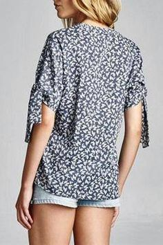 Shoptiques Product: Floral Chambray Shirt