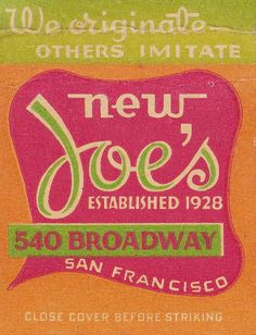 New Joe's San Francisco by hmdavid, via Flickr
