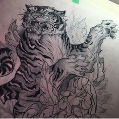 Insane details #cat #lion #tattoo #ink #tiger #kitty #meow #color #art #mane…