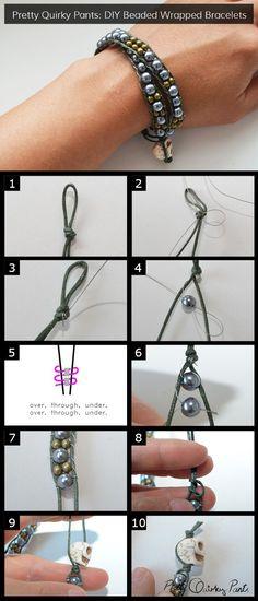 instruction - bead wrap bracelet