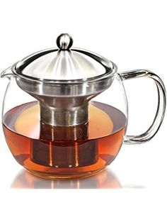 Teapot Kettle with Warmer - Tea Pot and Tea Strainer Set - Tea Infuser Holds 3-4 Cups ❤ Willow & Everett