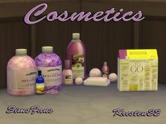 Cosmetics deco by Kresten 22 at Sims Fans via Sims 4 Updates