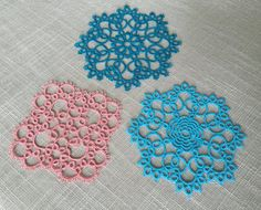 Tatting Pattern  Tatted Coasters Pattern Pack  Instant