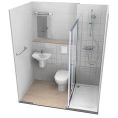 Bathroom showers 247768416986659470 - Zigourney Bathroom & Shower Pods Source by Small Wet Room, Small Shower Room, Small Toilet Room, Small Bathroom Layout, Very Small Bathroom, Small Showers, Tiny Bathrooms, Tiny House Bathroom, Bathroom Showers