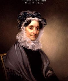 Frances Western Apthorp Vaughan,  Hallowell. Thomas Badger is thought to have painted this portrait of Frances Western Apthorp Vaughan (1759-1836), wife of Kennebec Proprietor Charles Vaughan. They lived on a small estate and supported the growth of several local cultural organizations. Item # 8092 on Maine Memory Network