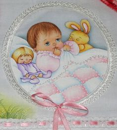 Kit contendo 03 peças , sendo: <br>01 - Fralda Passeio (70 x 70 cm)… Baby Prints, Fabric Painting, Doll Patterns, Kids And Parenting, Baby Dolls, Teddy Bear, Baby Shower, Crafts, Vintage