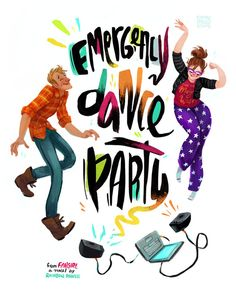 Levi and Cath from Fangirl by Rainbow Rowell have an Emergency Dance Party! Fangirl Book, Book Fandoms, Book Nerd, Eleanor And Park, Ya Books, Good Books, Reading Books, Geeks, Rainbow Rowell