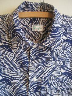 soviet propaganda novelty print shirt art deco fabric, benetton 1980s but from a 1930s soviet design