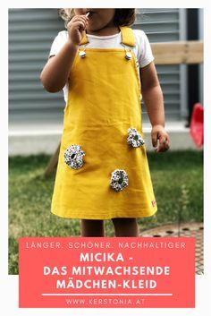 Micika - das mitwachsendes Kinderkleid - vom Mädchen-Kleid bis zur Tunika. Nachhaltiger Umgang mit Textilien.