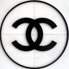 Chanel logo'd on wall