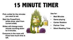 "FREE MISC. LESSON - ""15 Minute Timer"" as seen on Third Grade Troop  www.thirdgradetroop.com"
