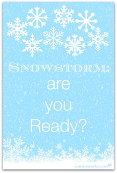Snowstorm: are you R