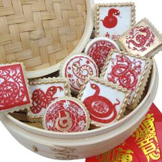Chinese Themed Wafer Paper - Chinese New Year of the Snake 2013 Wafer Paper