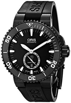 Men's Wrist Watches - Oris Mens 73976747754RS Aquis Analog Display Swiss Automatic Black Watch -- Read more at the image link.
