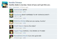 Kuroko x Vanilla Shake is canon. (´∩`。)