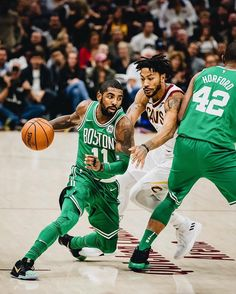 d309a16a5db6 Kyrie Irving and Derrick Rose going head to head.