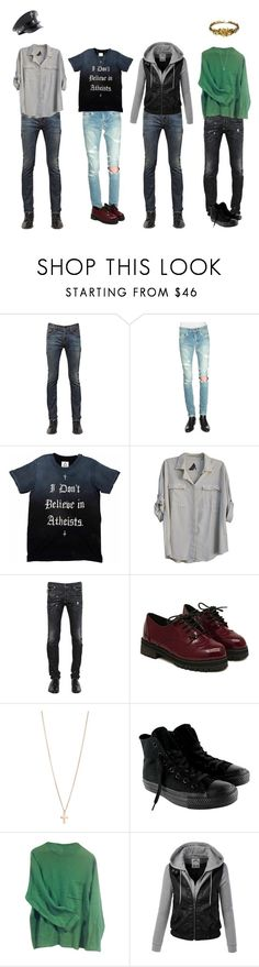 """""""Dear God, Dear God"""" by vogelprinz ❤ liked on Polyvore featuring Yves Saint Laurent, Seneca Rising, Dr. Martens, Dsquared2, Minor Obsessions, Converse, Paul Smith and Laurel Wreath Collection"""
