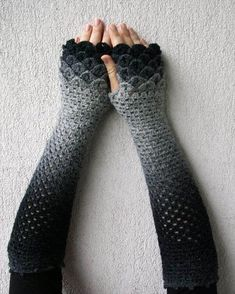 Items similar to Fingerless gloves Hand warmers Handwarmers Pure wool Knit Fingerless Gloves Arm Warmers Womens Gloves Wrist Warmers on Etsy Mode Crochet, Crochet Basics, Knit Crochet, Crochet Crafts, Crochet Projects, Knitting Patterns, Crochet Patterns, Hat Patterns, Mode Costume