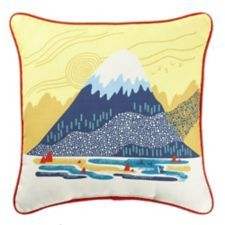 Add some excitement to your patio, outdoor living area or even indoors with the CANVAS Designer Series Moraine Lake Toss Cushion Triangle Design, Circle Design, Patio Seating, Patio Chairs, Seat Pads, Chair Pads, Replacement Patio Cushions, Name Canvas, Moraine Lake
