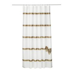 LISEL Shower curtain IKEA Densely-woven polyester fabric with water-repellent coating.
