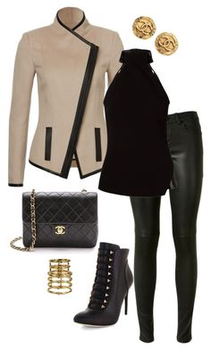402 by jacquelinecxo on Polyvore featuring polyvore, fashion, style, Giuliana Romanno, Yves Saint Laurent, BCBGMAXAZRIA, Chanel, Elizabeth and James, clothing, BCBGmaxazria, saintlaurent, ElizabethAndJames and Hudson