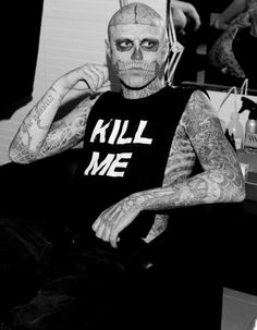 Photo of Rick Genest for fans of Rick Genest 22173675 Rick Genest, Alternative Men, Eye Candy Men, Fashion Models, Mens Fashion, Goth Aesthetic, Cover Tattoo, Crazy People, Statue