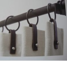 Gardinen Drapery leather pulls Tropical Home Decor 2 Article Body: Who wouldn't love to have their h Curtains With Blinds, Drapes Curtains, Valances, Shower Curtains, Drapery Designs, Drapery Ideas, Drapery Styles, Drapery Hardware, Drapery Panels
