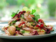 Spanish Seafood Salad recipe from Bobby Flay via Food Network