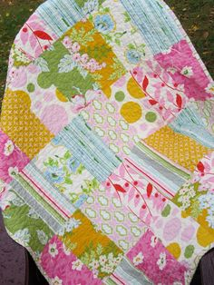Nicey Jane Baby Quilt by ModernMaterialGirl on Etsy, $110.00