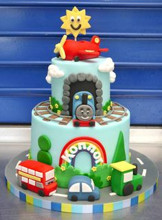 Plane, train, car cake - BY hello babycakes