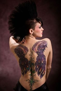 Peacock wing back tattoo, similar to the one I want to get