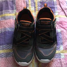 the latest 64f86 7b3c6 Skechers Shoes   Boys Sketchers S-Lights   Color  Gray Orange   Size