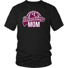 Bowling Shirt - World's Best Bowling Mom Jurassic Park T Shirt, Bowling T Shirts, Gym Essentials, Fun To Be One, Custom Made, Long Sleeve Shirts, Mom, Mens Tops, Social Work