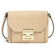 Ivanka Trump 'Hopewell' Print Leather Clutch (295 CAD) ❤ liked on Polyvore featuring bags, handbags, clutches, palomino, beige handbags, ivanka trump, evening clutches, leather purse and ivanka trump handbags