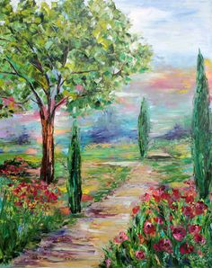 Original oil painting Italy Tapestry of Color by Karensfineart on Etsy